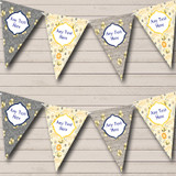 Bumble Bee Grey & Yellow Children's Birthday Party Bunting