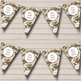 Brown Camouflage Children's Birthday Party Bunting