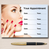 Nail Beauty Hair Spa Massage Personalised Appointment Cards