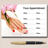 Nail Salon Manicure Pedicure Pretty Personalised Appointment Cards