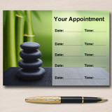Beauty Salon Massage Treatment Spa Bamboo Personalised Appointment Cards