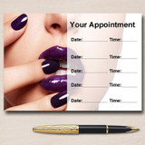Nail Salon Manicure Pedicure Purple Personalised Appointment Cards