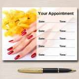 Nail Salon Manicure Pedicure Personalised Appointment Cards