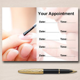 Nail Technician Manicure Salon Personalised Appointment Cards