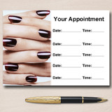Nail Technician Salon Manicure Pedicure Personalised Appointment Cards
