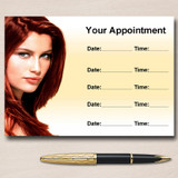 Salon Hair Hairdresser Personalised Appointment Cards