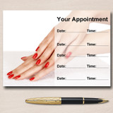 Salon Nail Beauty Manicure Pedicure Personalised Appointment Cards