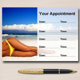 Sun Tanning Spray Tan Salon Personalised Appointment Cards