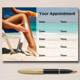 Sunbed Sun Tanning Spray Tan Personalised Appointment Cards