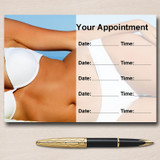 Tanning Spray Tan Sunbed Waxing Personalised Appointment Cards