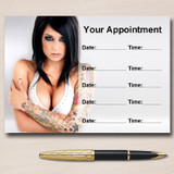 Tattoo Body Art Tattooist Piercings Personalised Appointment Cards