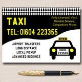 Taxi Black Cab Personalised Business Cards