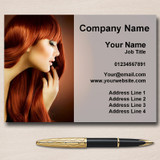 Hair Hairdressing Salon Mobile Stylist Personalised Business Cards