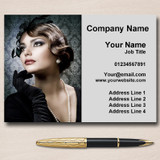 Hairdresser Treatment Salon Hair Personalised Business Cards