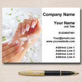 Manicure Pedicure Nail Salon Beauty Personalised Business Cards