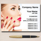Nail Beauty Hair Spa Massage Personalised Business Cards
