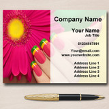 Nail Manicure Pedicure Beauty Salon Personalised Business Cards