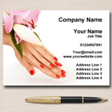 Nail Salon Manicure Pedicure Pretty Personalised Business Cards