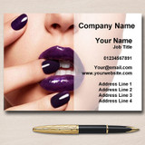 Nail Salon Manicure Pedicure Purple Personalised Business Cards