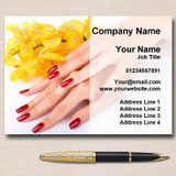 Nail Salon Manicure Pedicure Personalised Business Cards
