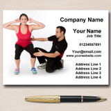 Personal Trainer Fitness Instructor Gym Personalised Business Cards