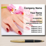 Pretty Nail Salon Manicure Pedicure Personalised Business Cards