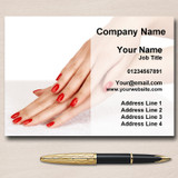 Salon Nail Beauty Manicure Pedicure Personalised Business Cards