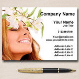 Spa Treatment Beauty Hair Nails Massage Personalised Business Cards