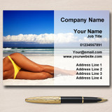 Sun Tanning Spray Tan Salon Personalised Business Cards