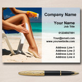 Sunbed Sun Tanning Spray Tan Personalised Business Cards