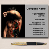Tattoo And Piercings Personalised Business Cards
