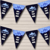 Fortnite Game Blue Birthday Party Bunting Banner Garland Flags