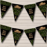 Army Tank Green Camouflage Children's Party Bunting
