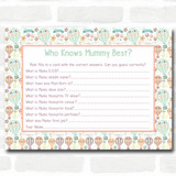 Neutral Hot Air Balloons Baby Shower Games Who Knows Mum Best Cards