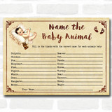Vintage Baby Shower Games Baby Animal Cards