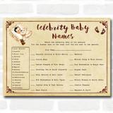 Vintage Baby Shower Games Celebrity Baby Name Cards