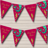 Pink Mermaid Under The Sea Children's Party Bunting