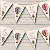 Rainbow Hot Air Balloon Children's Party Bunting