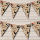 Treasure Map Pirate Children's Party Bunting