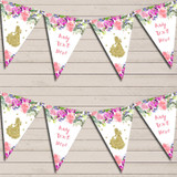 Watercolour Floral Princess Children's Birthday Bunting Garland Party Banner
