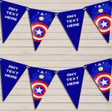 Superhero Captain America Children's Birthday Bunting Garland Party Banner