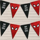 Superhero Spiderman Children's Birthday Bunting Garland Party Banner