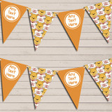 Winne The Pooh Orange Children's Birthday Bunting