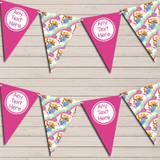 Winne The Pooh Pink Children's Birthday Bunting