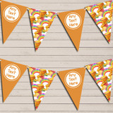 Winne The Pooh Rainbow Orange Children's Birthday Bunting