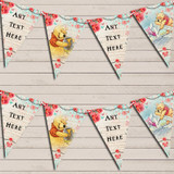 Winnie The Pooh Rustic Vintage Shabby Chic Floral Children's Birthday Bunting