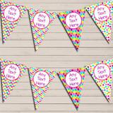Bright Jazzy Rainbow Multi Colours Children's Birthday Bunting