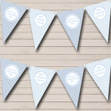 Boy Blue Stripes & Clouds Christening Baptism Bunting