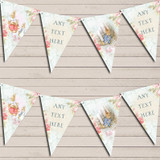 Peter Rabbit Floral Vintage Rustic Christening Bunting