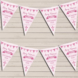 Pink Girls Watercolour Banner Holy Communion Christening Bunting